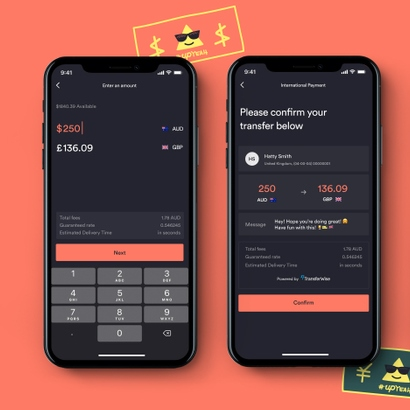 Digital bank Up launches international payments powered by TransferWise