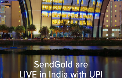 Australian fintech SendGold announce they are live in India with UPI