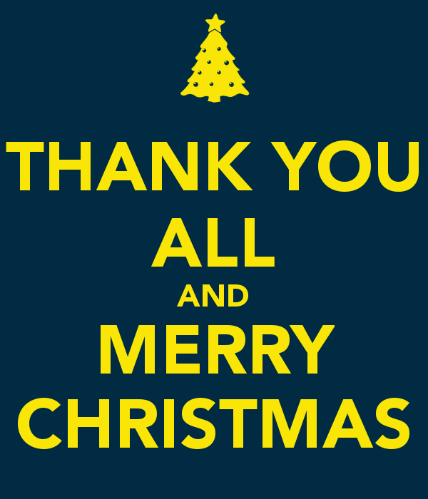 Thank You & Merry Christmas!