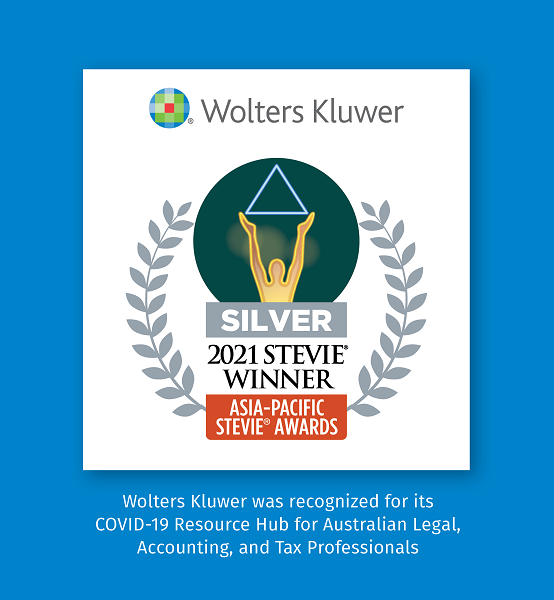 Wolters Kluwer recognised for its complimentary COVID-19 Resource Hub for Australian Legal, Accounting & Tax Professionals